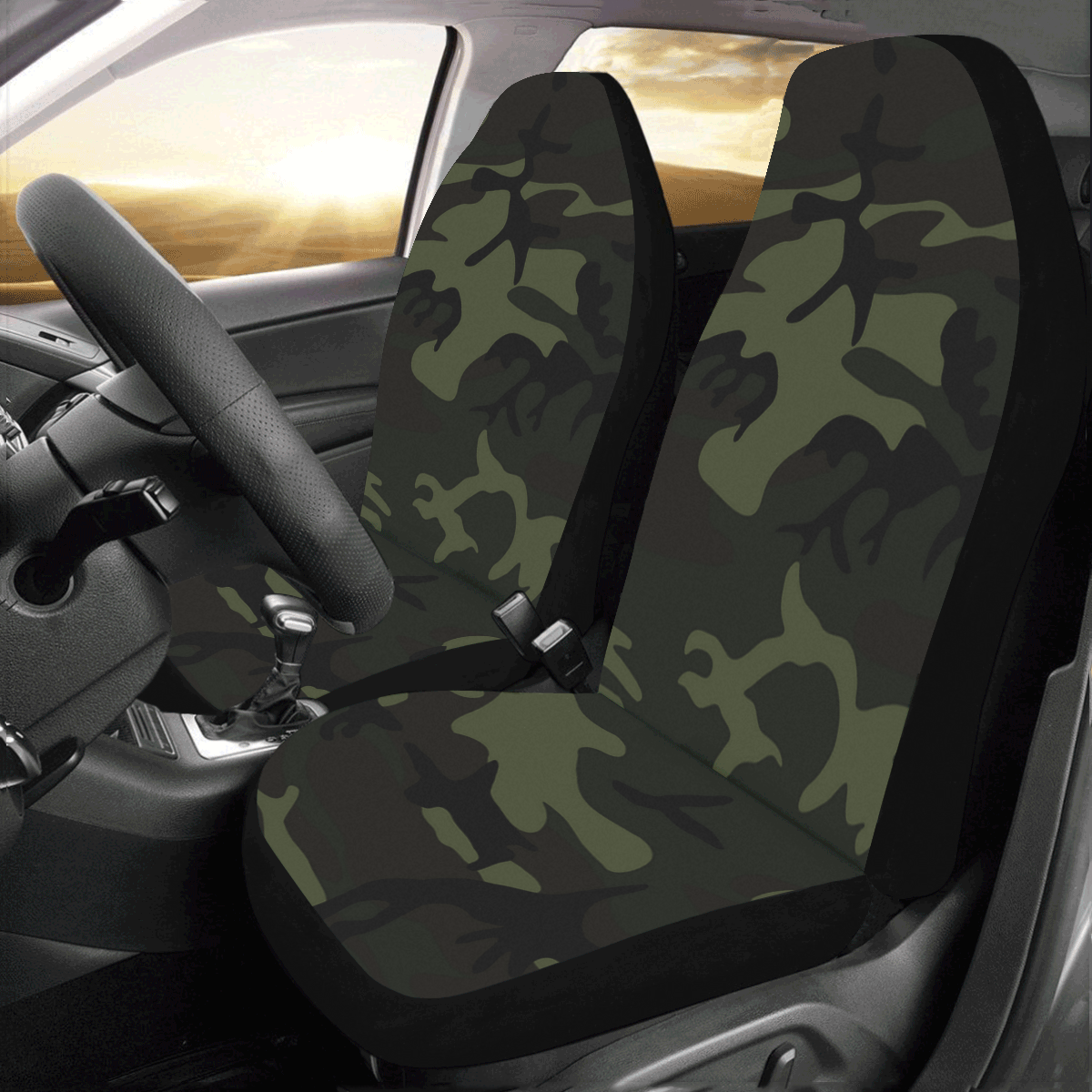 Camo Green Car Seat Covers (Set of 2)