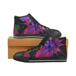 Abstract #9 2020 High Top Canvas Shoes for Kid (Model 017)