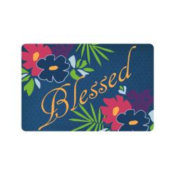 """Floral Happiness Doormat 24""""x16"""""""