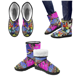 Battle in Space 2 Custom High Top Unisex Snow Boots (Model 047)