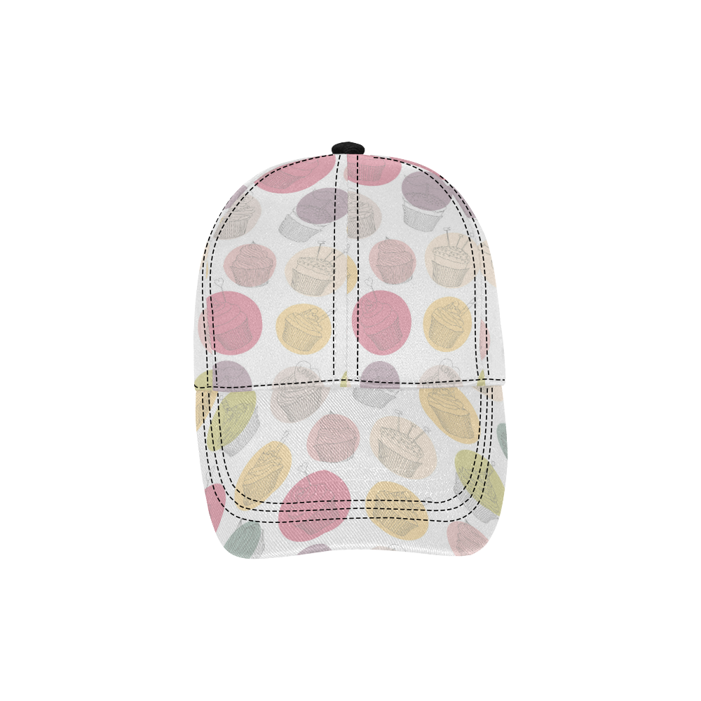 Colorful Cupcakes All Over Print Dad Cap C (7-Pieces Customization)