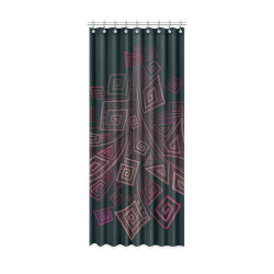 """Psychedelic 3D Square Spirals - pink and orange Window Curtain 52"""" x 120""""(One Piece)"""