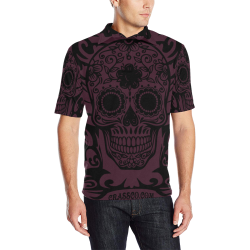 SKULL TRIBAL LUXURY POLO VI Men's All Over Print Polo Shirt (Model T55)
