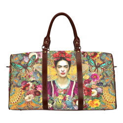 Frida Kahlo Tuscany Waterproof Travel Bag/Small (Model 1639)