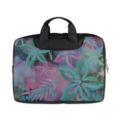 "Flower Pattern - black, teal green, purple, pink Macbook Air 11""(Twin sides)"