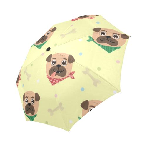 Pugs in Bandanas Auto-Foldable Umbrella (Model U04)