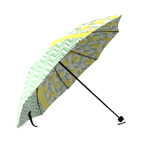 Lemons With Chevron 2 Foldable Umbrella (Model U01)