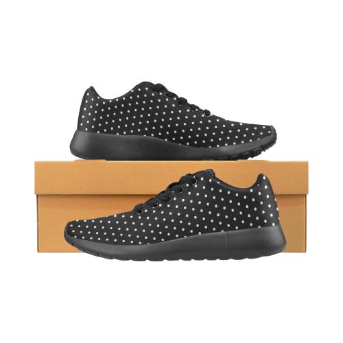Polka Dot Pin All Black - Jera Nour Women's Running Shoes/Large Size (Model 020)