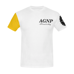GLD/BLK/WHITE TRI AGNP TEE All Over Print T-Shirt for Men (USA Size) (Model T40)