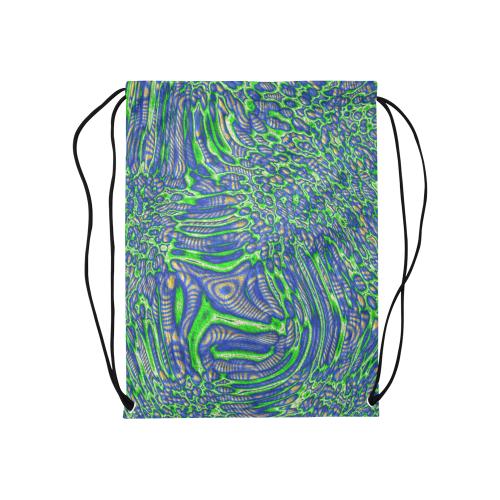 "70s chic 2 Medium Drawstring Bag Model 1604 (Twin Sides) 13.8""(W) * 18.1""(H)"
