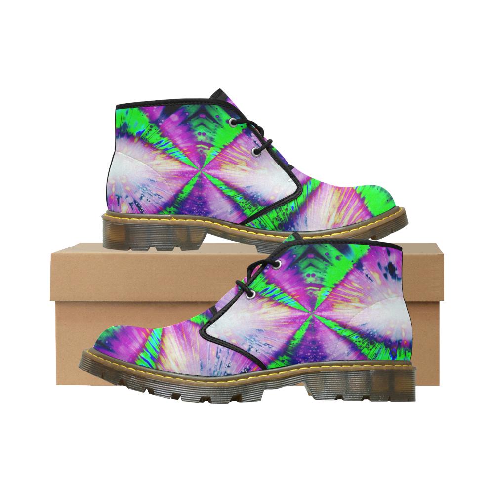 Rainbow Deep Crew Step Men's Nubuck Chukka Boots (Model 2402)