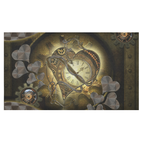 """Awesome steampunk heart Cotton Linen Tablecloth 60""""x 104"""""""