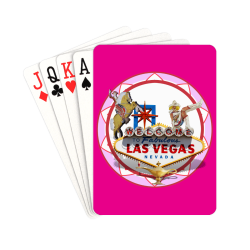 """LasVegasIcons Poker Chip - Pink on Hot Pink Playing Cards 2.5""""x3.5"""""""