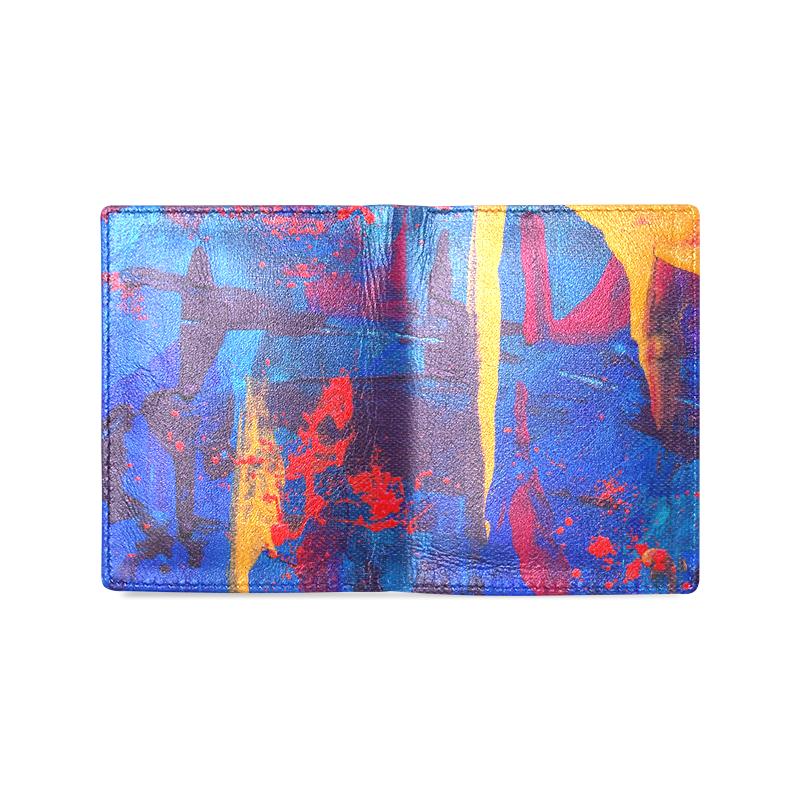 oil_l Men's Leather Wallet (Model 1612)