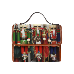 Christmas Nut Cracker Soldiers Waterproof Canvas Bag/All Over Print (Model 1641)