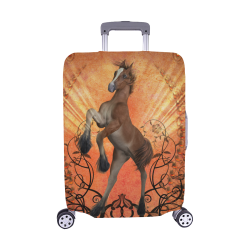 "Awesome, cute foal with floral elements Luggage Cover/Medium 22""-25"""