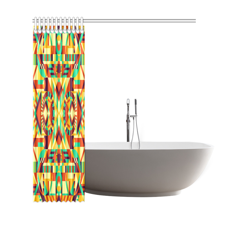 "Modern Geometric Pattern Shower Curtain 69""x72"""