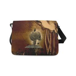 Mechanical skull Messenger Bag (Model 1628)