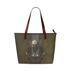 Awesome dark skull Shoulder Tote Bag (Model 1646)