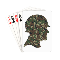 """Forest Camouflage Soldier Playing Cards 2.5""""x3.5"""""""