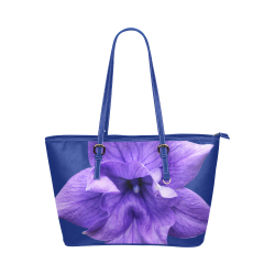 Balloon Flower Leather Tote Bag/Small (Model 1651)