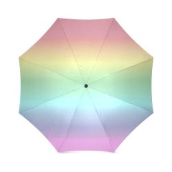 Pastel Rainbow Foldable Umbrella (Model U01)
