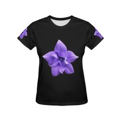 Balloon Flower All Over Print T-Shirt for Women (USA Size) (Model T40)