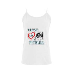 Pitbull Love Women's Spaghetti Top (USA Size) (Model T34)