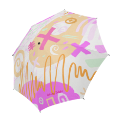 Delight's Parasol Collection- Pattern Abstract 53086a5 Semi-Automatic Foldable Umbrella (Model U05)