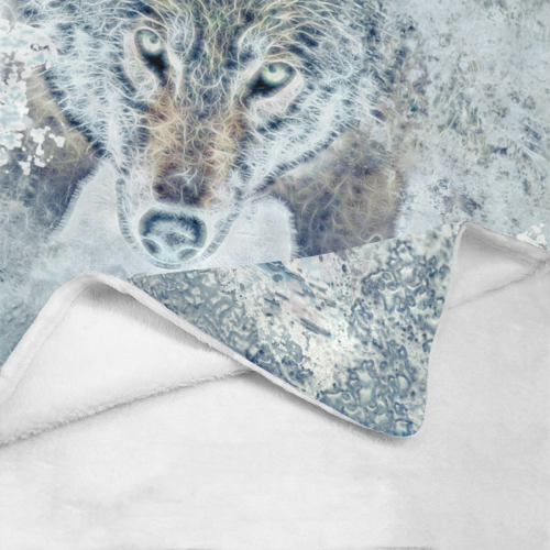 "Snow Wolf Ultra-Soft Micro Fleece Blanket 50""x60"""