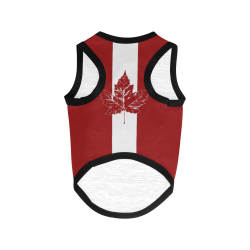 Cool Canada Flag Dog Shirts All Over Print Pet Tank Top
