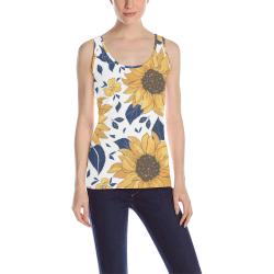 Sunflowers All Over Print Tank Top for Women (Model T43)