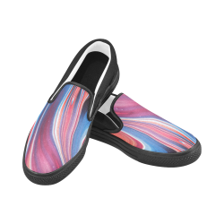 oil_b Women's Unusual Slip-on Canvas Shoes (Model 019)