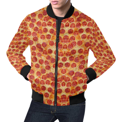 Pizza by Artdream All Over Print Bomber Jacket for Men (Model H19)