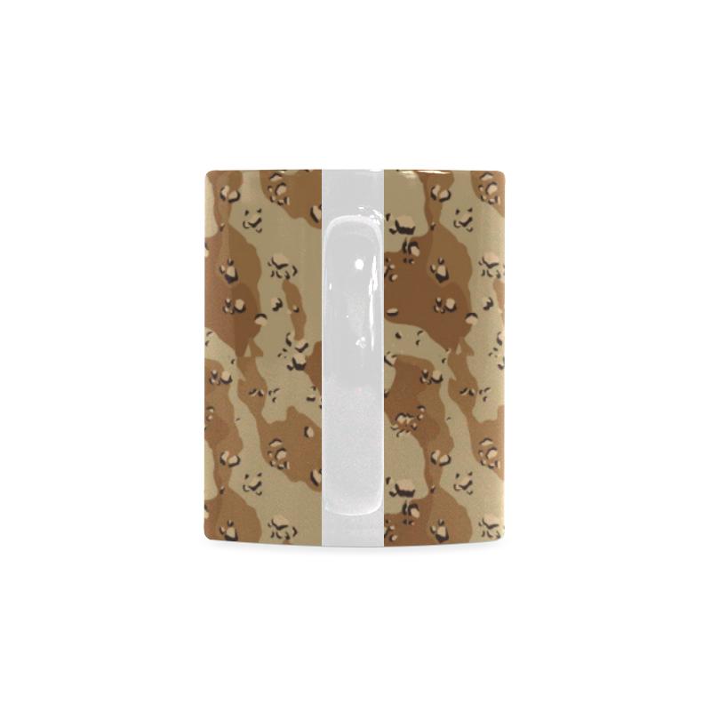 Vintage Desert Brown Camouflage White Mug(11OZ)