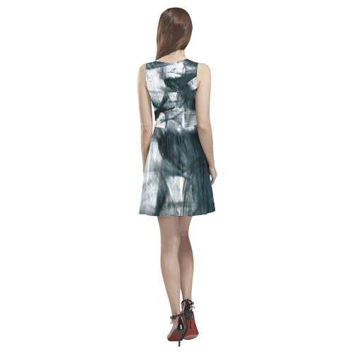 Traingular puzzle Thea Sleeveless Skater Dress(Model D19)