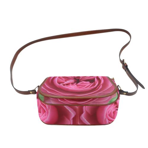 Rose Fleur Macro Saddle Bag/Large (Model 1649)