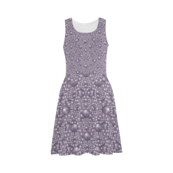 festive purple pearls Atalanta Sundress (Model D04)