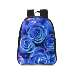roses are blue School Backpack/Large (Model 1601)