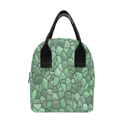 Forest Shades Mosaic Insulated Zipper Lunch Bag (Model 1689)