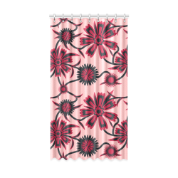 "Red carnations Window Curtain 52"" x96""(One Piece)"