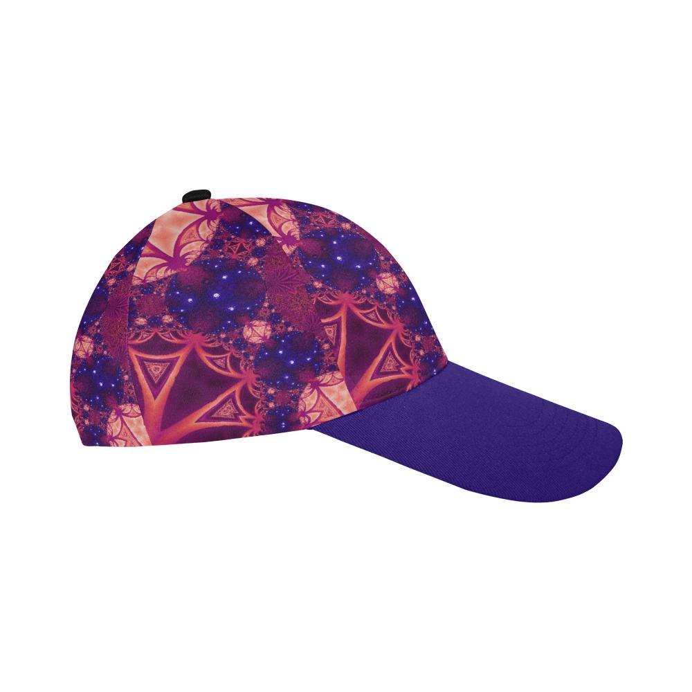 Moonlit Colourful Tropics All Over Print Baseball Cap B