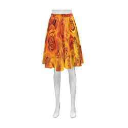 Grenadier Tangerine Roses Athena Women's Short Skirt (Model D15)
