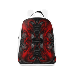 xxsml Red Rave Crew School Backpack/Large (Model 1601)