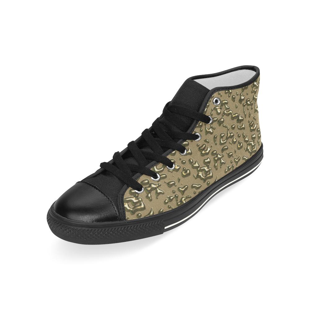 golden drops Men's Classic High Top Canvas Shoes (Model 017)