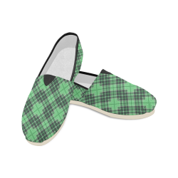 STRIPES LIGHT GREEN Unisex Casual Shoes (Model 004)
