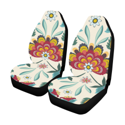 Awesome Batik Floral Car Seat Covers (Set of 2)