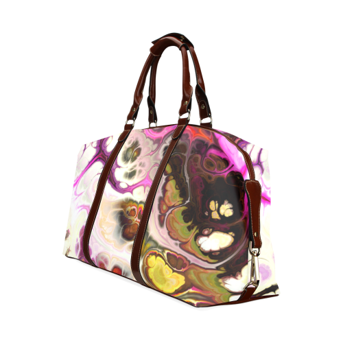 Colorful Marble Design Classic Travel Bag (Model 1643) Remake