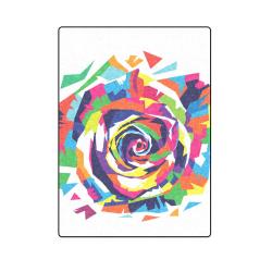 "Rainbow Rose Blanket 58""x80"""