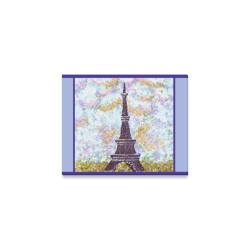 "Eiffel Tower Pointillism by Kristie Hubler Canvas Print 10""x8"""